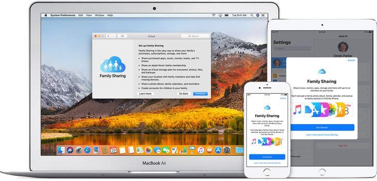 Set up Family Sharing via Apple