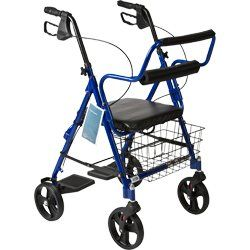 """BANTEX Companion Rollator (Walker/Chair/Wheelchair) -- 3-in-1 solution Rosco http://www.amazon.com/dp/B001LFGSGS/ref=cm_sw_r_pi_dp_qqVKtb0YV4BRDJF9   Like the basket (as opposed to pouch); seat width 14"""", depth 13""""; inconspicuous foot rests; up to 250 lbs capacity"""