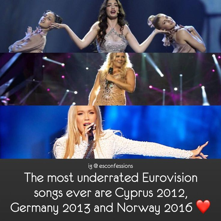 #esccyprus #cyprus #iviadamou #esc2012 #eurovision2012 #escgermany #germany #cascada #esc2013 #eurovision2013 #escnorway #norway #agnete #esc2016 #eurovision2016 #eurovision #eurovisionsongcontest • Admin's opinion: - Ivi's vocals were bad. - Cascada had a horrible song and bad vocals due to her sickness. - Agnete didn't give her best performance and I understand why people didn't like her song. I only find Agnete a little underrated, she should've qualified