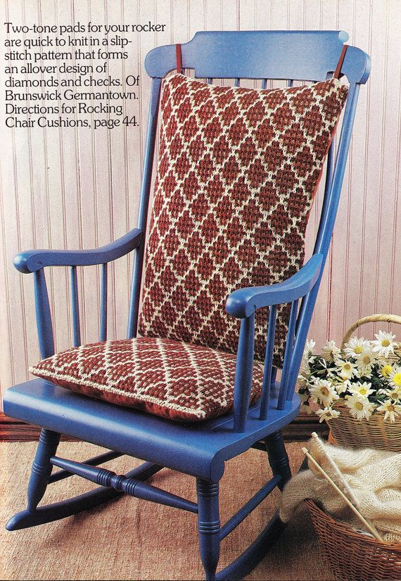Knitting Patterns Rocking Chair pad Cushions pattern seat cushions ...