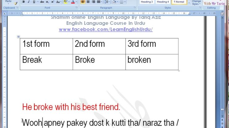 How to make Past Simple or Past Indefinite tense Part Two 02 by tariq