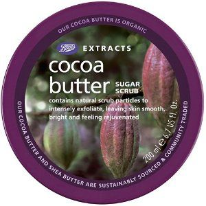 Bts Ext Cocoa Butter Sugar Scrub by BOOTS. $9.99. Intensely exfoliates skin. A gentle exfoliating sugar scrub containing natural scrub particles, to intensely exfoliate leaving skin smooth, bright and feeling rejuvenated. 6.7 fl. oz. (200ml). How to Use: Gently massage onto skin. Rinse well after use. For best results, follow with Extracts Body butter. The scrub will prepare the skin for moisturisation.