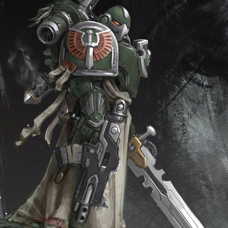 Dark angel https://www.artstation.com/p/YENkK #warhammer40k #horusheresy #spacemarine #darkangels #sketch
