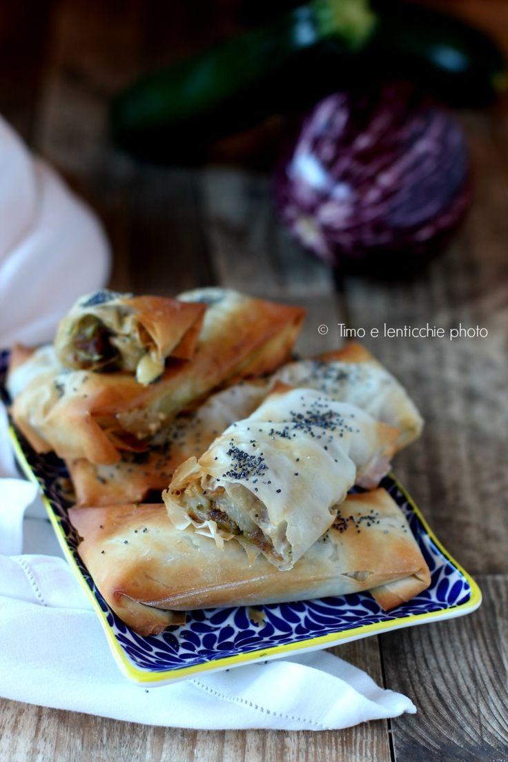 involtini pasta fillo http://blog.giallozafferano.it/timoelenticchie/involtini-di-pasta-fillo-alle-verdure/