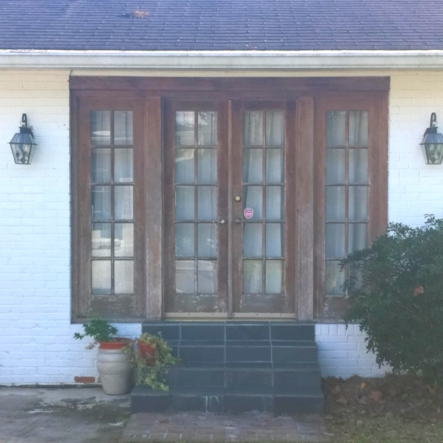 Worn Rustic French Doors To Side Porch For The Remodel