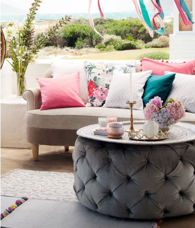 Tufted Ottoman With Tray Decor Inspiration Pinterest