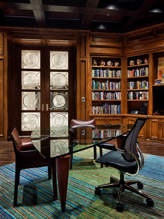 17 best images about small home library on pinterest for Custom home library design