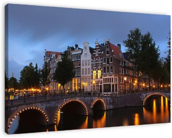 Koop 'Leidsegracht in Amsterdam' van Ada Zyborowicz op canvas, dibond of (ingelijste) poster print.