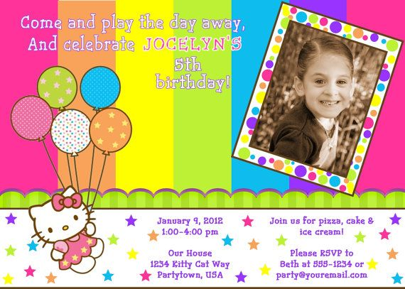 65 best Hello Kitty invitations images – Personalized Hello Kitty Birthday Invitations