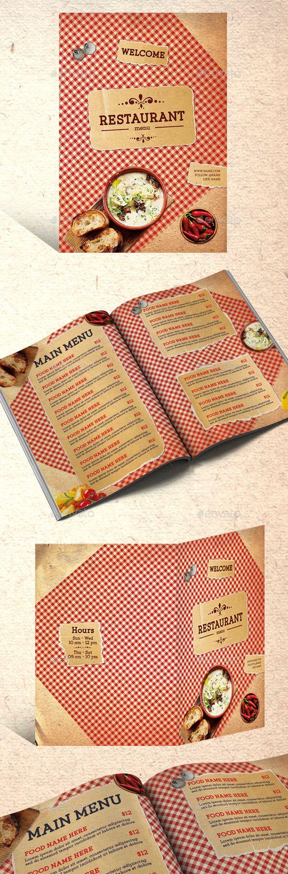 Restaurant Menu — Photoshop PSD #quality #barbecue • Available here → https://graphicriver.net/item/restaurant-menu/11778364?ref=pxcr