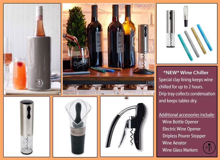 Pampered Chef National Wine Day wine opener wine chiller wine accessories