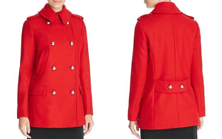 MICHAEL Michael Kors Military Women's Peacoat Large Red NWT MSRP $395