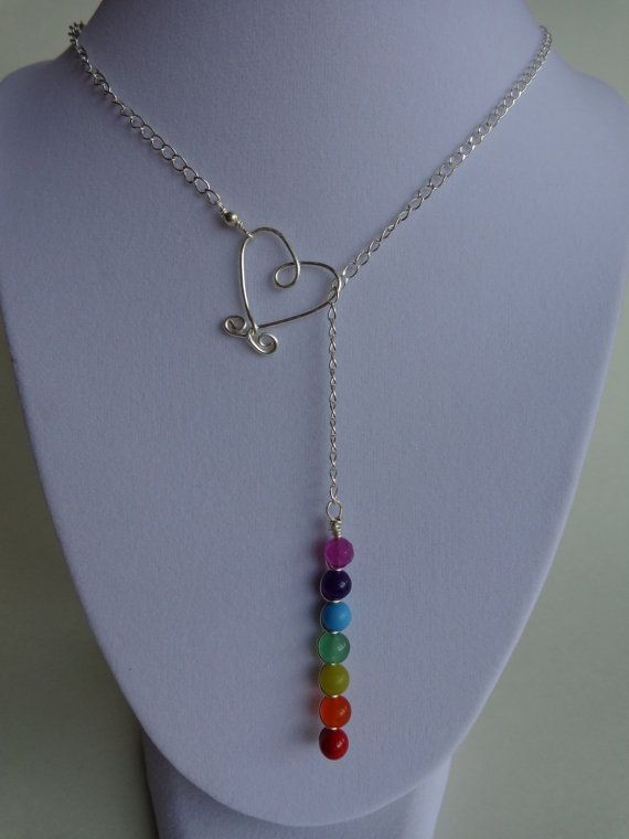 Seven Chakras Lariat Necklace    by IrisJewelryCreations