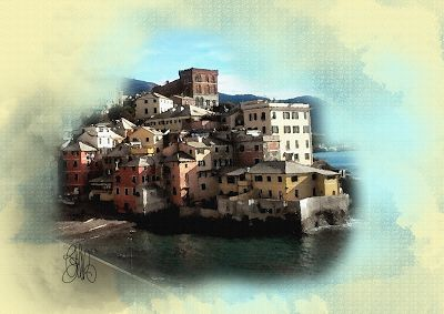 "CREATIONS by  ELIBET6.: Wall Art ""Old Fishing Village Boccadasse"" , Genoa ..."