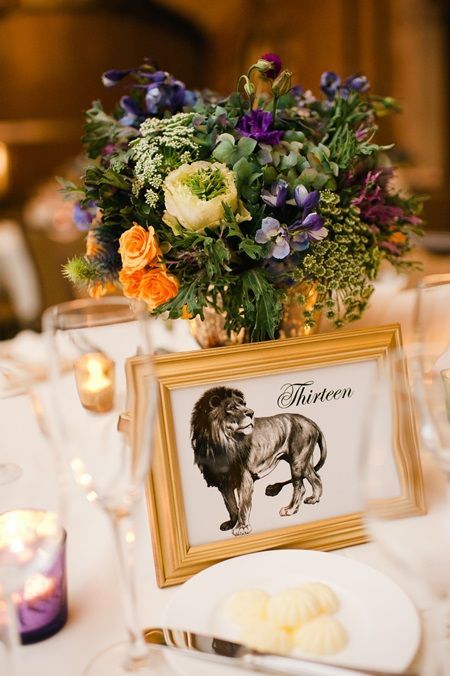 I like the idea of some kind of graphic print/frame with the centerpiece... something to think about -- rustic theme???