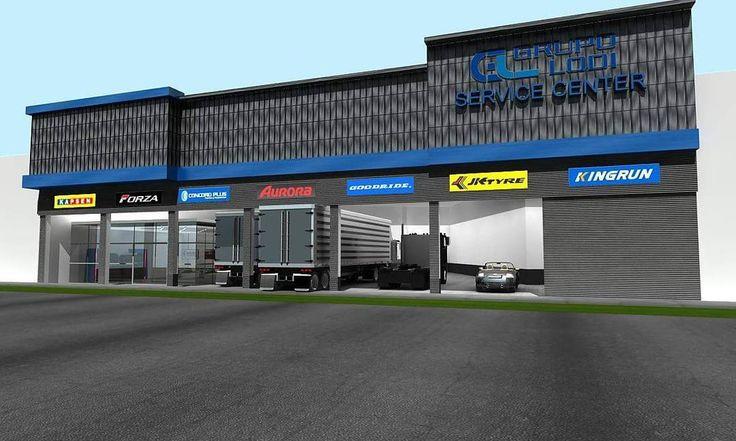Local de Servicentro. Servicentro para autos y camiones y tienda de venta de llantas. San Luis, Lima. Diseño. Area 700 m2. #servicentro #servicecenter #llantas #autos #camiones #ventas #diseño #arquitectura #arquitecto #lima #peru #design #architecture #building #trucks http://unirazzi.com/ipost/1500907527116873979/?code=BTUS3GaguD7