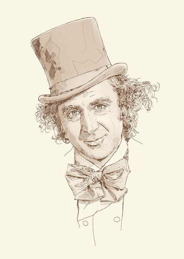 'Living the dream'  This is a limited edition fine art print of the one and only 'Gene Wilder'. These are for sale on Morgan.ie. cheers. #art #illustration #drawing #prints