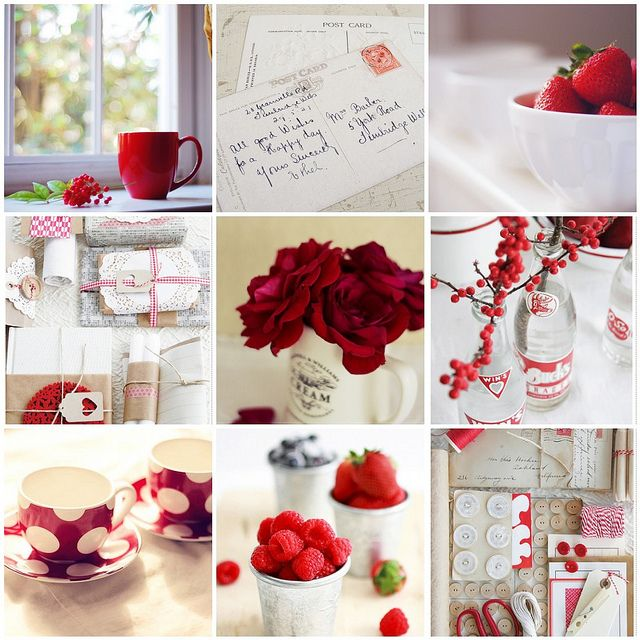 red&white | 1. 'tis the season, 2. Back of some Vintage Post… | Flickr - Photo Sharing!
