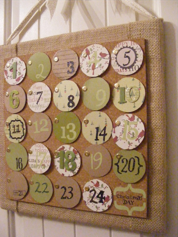 advent calendar with activities behind the numbers!!