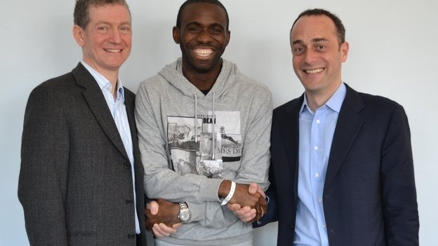 Fabrice Muamba the Bolton midfielder has finally be discharged from hospital after a cardiac arrest in Bolton's FA Cup match against Tottenham.     Nice to see that you are ok Fabrice!