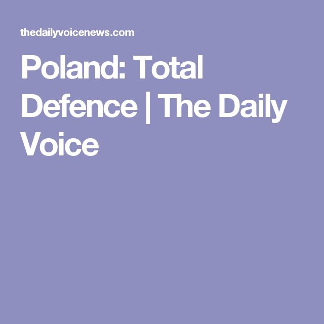 Poland: Total Defence | The Daily Voice