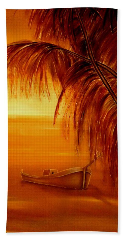 Beach Towel,  orange,brown,accessories,cool,trendy,fancy,beautiful,unique,awesome,modern,artistic,fashionable,unusual,for,sale,design,items,products,ideas,tropical,palmtrees,sunset