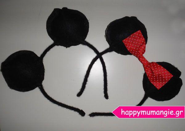 mickey mouse - minnie mouse felt ears
