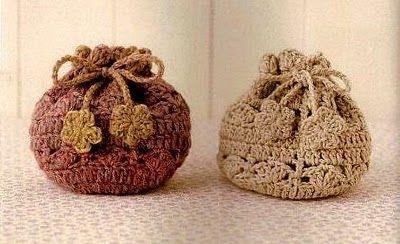 Morralitos tejidos en crochet