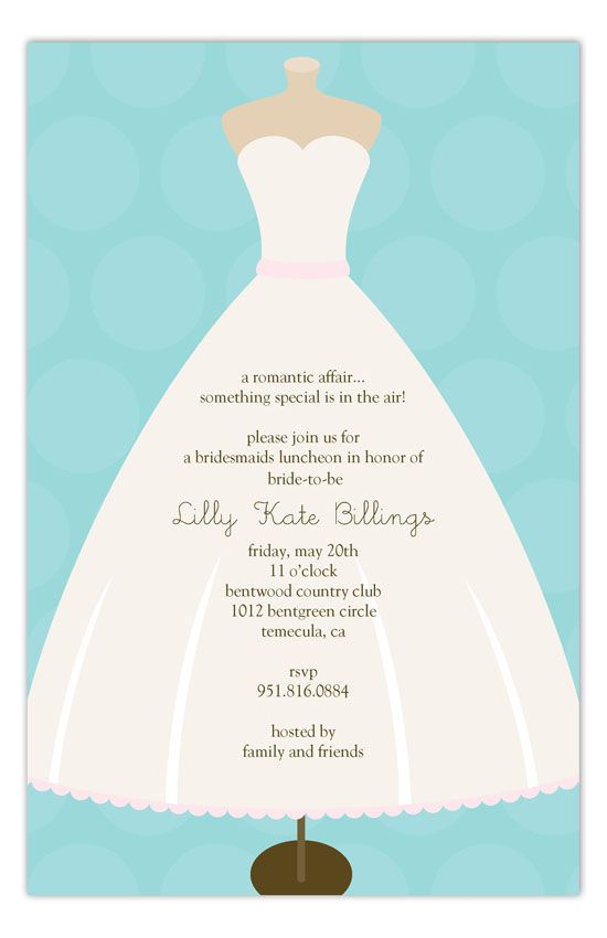 98 best Bridal Luncheon Invitations images on Pinterest Bridal - invitation forms