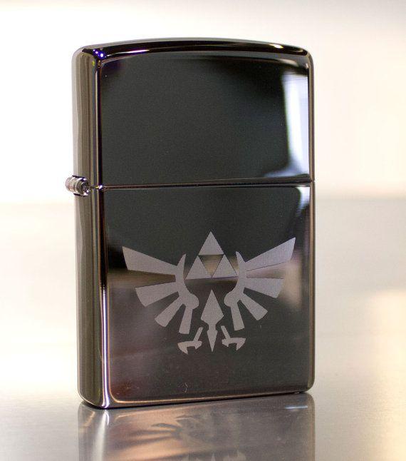Legend of Zelda Triforce Video Game Etched by AThomasBracelets, $25.00