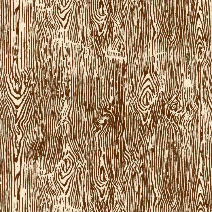 Wood Grain Print Rug: Thin Wood Grain Print Lokta Paper