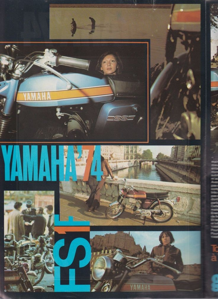 Yamaha FS1 Moped Motorcycle Brochure | eBay