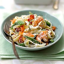 WeightWatchers.be - Weight Watchers Recepten - Pastasalade met scampi en gerookte zalm