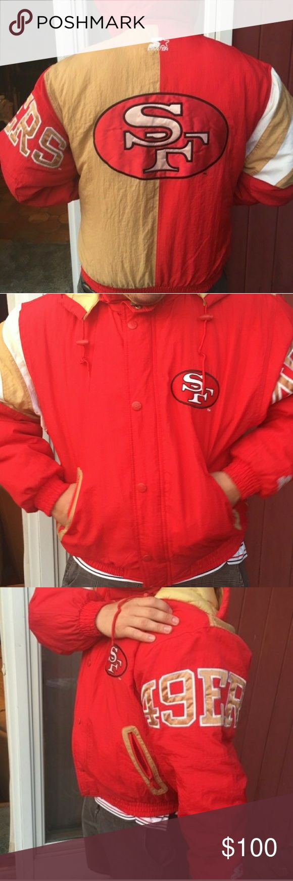 Starter Mens San Francisco 49ers Football Jacket Practically New  Mens Size Medium Starter Jackets & Coats