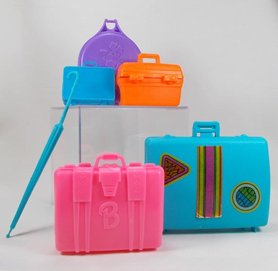 Vintage Barbie Doll Luggage Accessories Suitcases Travel