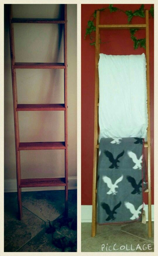 Bunkbed ladder ideas for something simple organization for Outdoor towel caddy