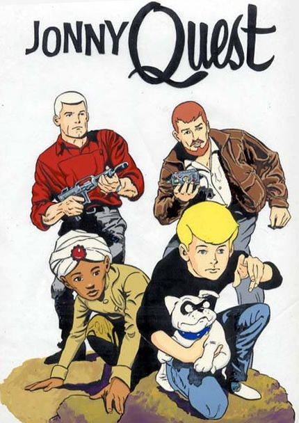 Jonny Quest – often casually referred to as The Adventures of Jonny Quest – is the original American science fiction/adventure animated television series that started the franchise. It was produced by Hanna-Barbera Productions for Screen Gems, and created and designed by comic-book artist Doug Wildey. Inspired by radio serials and comics in the action-adventure genre.  It and ran on ABC in prime time on early Friday nights for one season in 1964–1965.