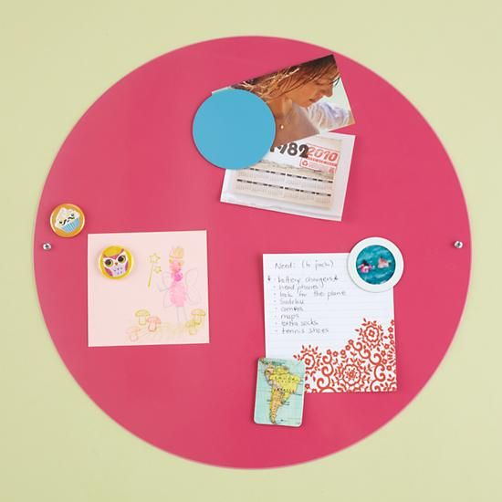The Land of Nod | Kids' Bulletin Boards: Kids White Metal Circle Magnet Board in Magnet Boards