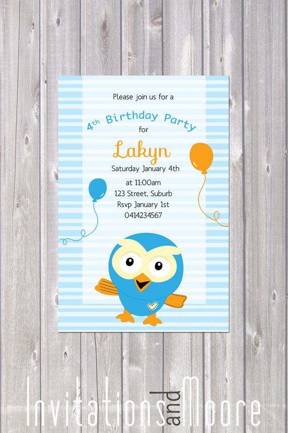 Giggle and Hoot Invitation. Printable by InvitationsandMoore, $15.00
