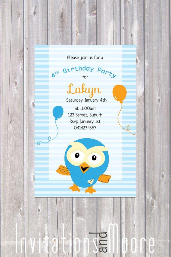 Giggle and Hoot Invitation. Printable by InvitationsandMoore, $15.00
