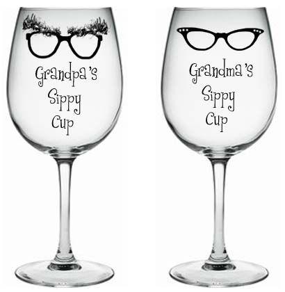 Grandpa And Grandma Sippy Cup Wine Glass Funny Stuff
