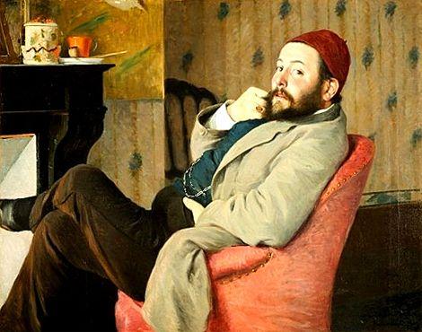 Portrait de Diego Martelli au bonnet rouge - 1879 - Federico Zandomeneghi - FLORENCE Galleria d'arte moderna di Palazzo Pitti