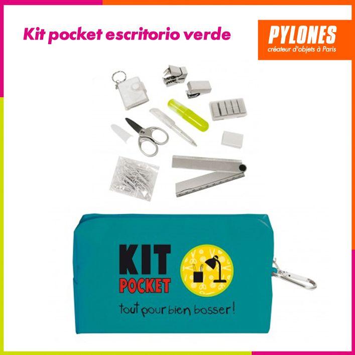 Kit pocket escritorio verde #Regalos #Novedades @pylonesco