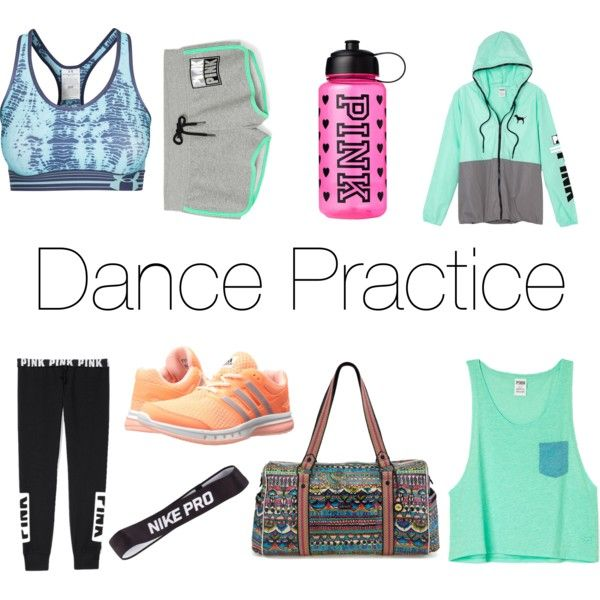 Dance practice by olivia510 on Polyvore featuring polyvore fashion style Victoria's Secret Under Armour Victoria's Secret PINK adidas Sakroots NIKE