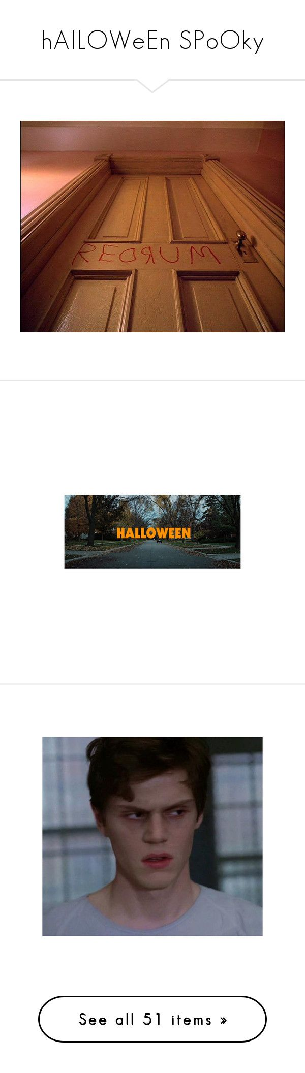 """""""hAlLOWeEn SPoOky"""" by lun-ors ❤ liked on Polyvore featuring pictures, evan peters, boys, backgrounds, fillers, photos, pics, dresses, vestidos and tops"""