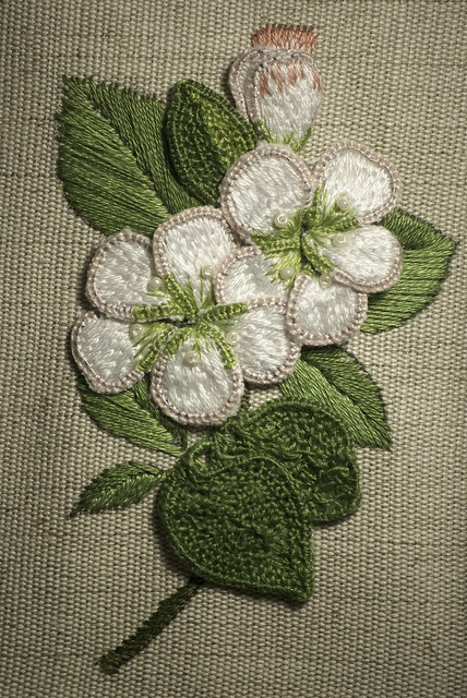 Stumpwork embroidery by Cross Duck, via Flickr
