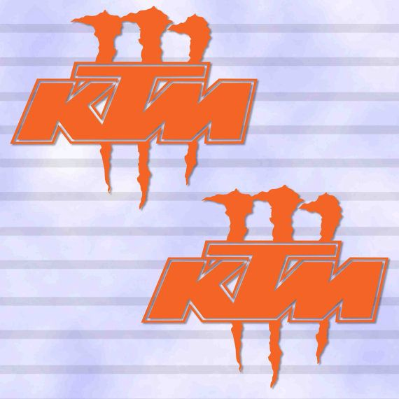 2 pieces monster energy ktm racing outdoor decal sticker die cut no backgrond for dirt bike