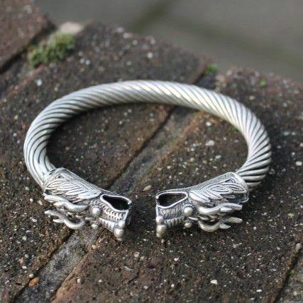 Boho Jewellery Gypsy Bangle Ethnic Jewellery Handmade Tribal Miao Silver Dragon Bracelet