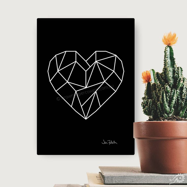 Excited to share the latest addition to my #etsy shop: Printable wall art - Downloadable art – Valentines day gift – Heart prints - Art prints - A2 A3 A4 Letter Poster - Geometric art - Romantic http://etsy.me/2nQRxSr #art #print #digital #black #valentinesday