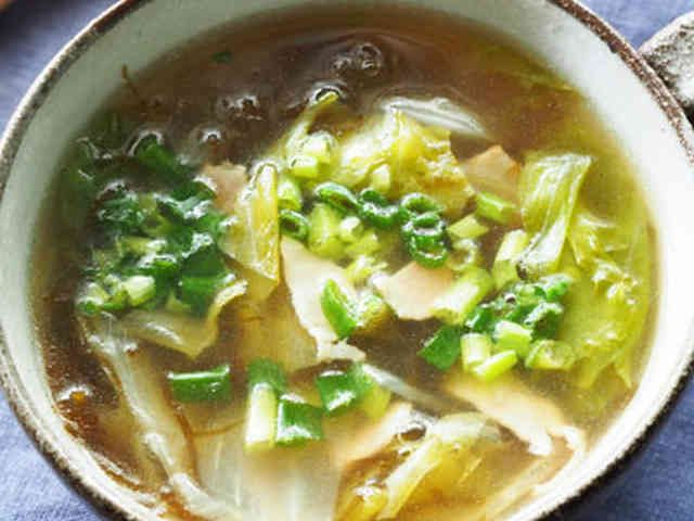 レタスともずくの和風コンソメスープの画像
